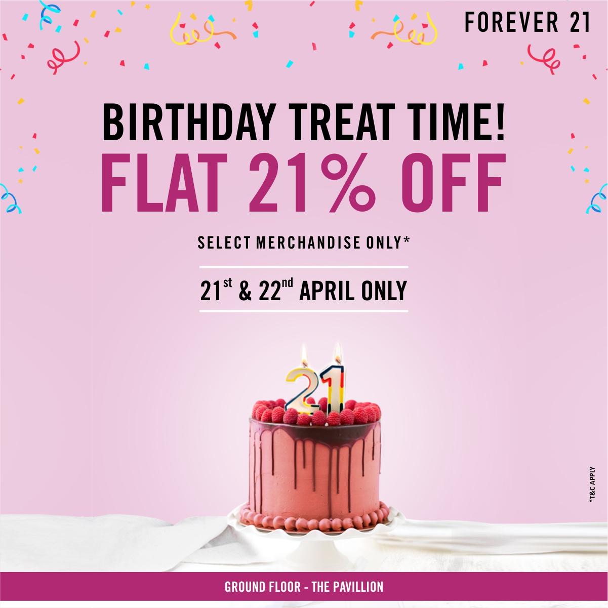 Forever 21 birthday