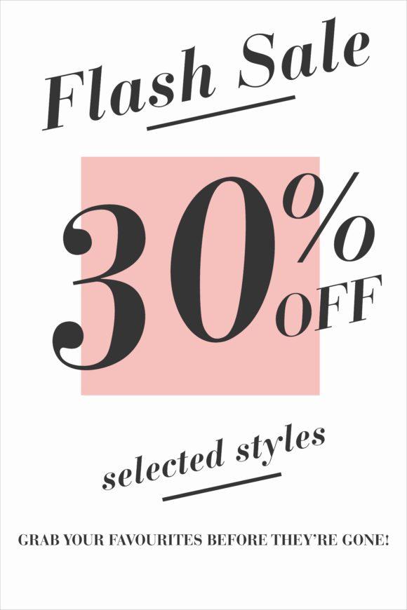 flash sale 30%