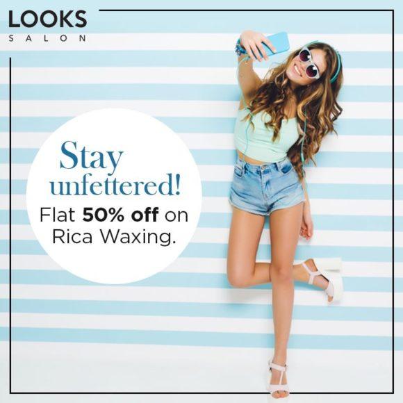 Looks Salon Flat 50% off on Rica Waxing